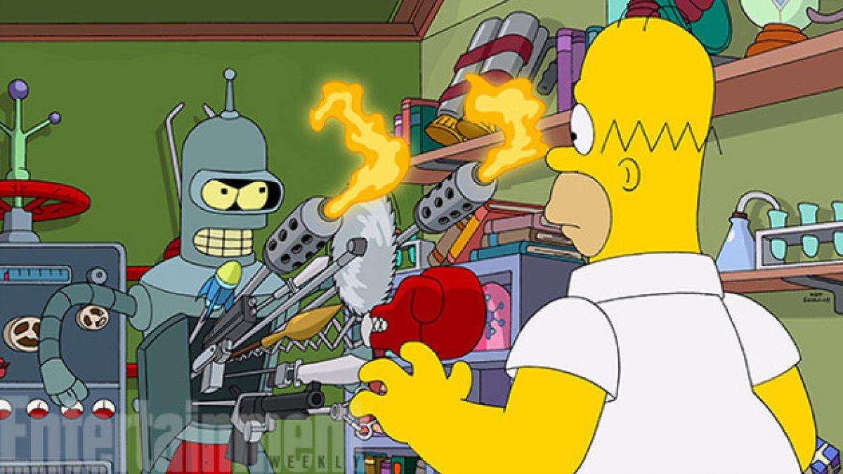 """Así será el capítulo que reunirá a """"Los Simpsons"""" y """"Futurama"""""""