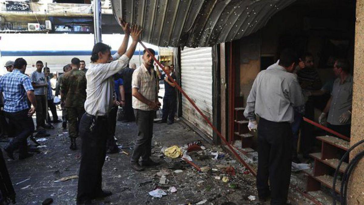 Explosiones en plaza de Damasco dejan al menos 14 muertos