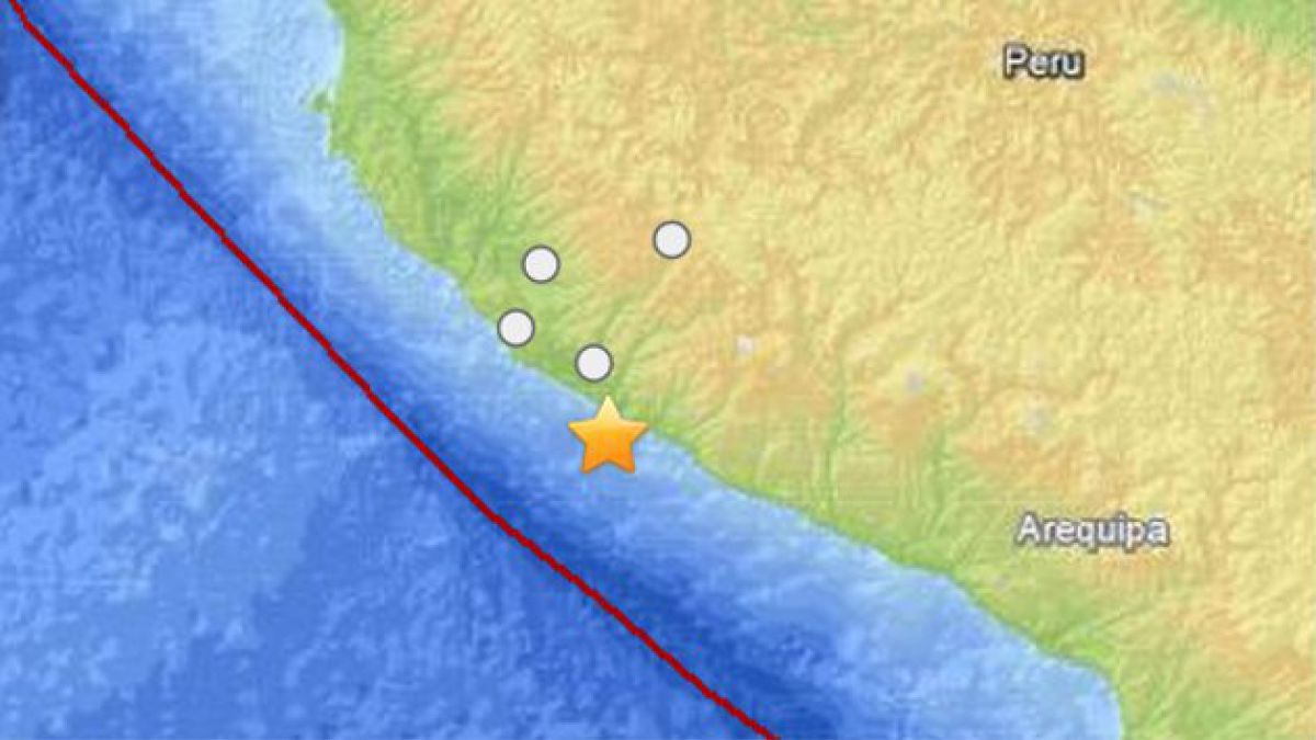 Fuerte sismo de 7 grados Richter afectó a sur de Perú