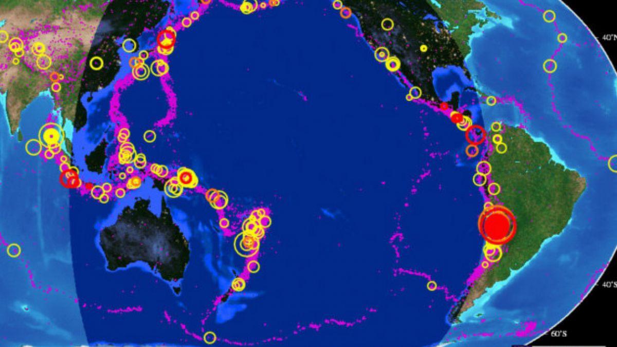 Mapa revela la intensa actividad sísmica en el norte durante los últimos días