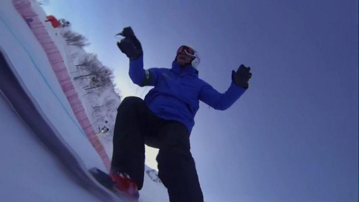 Registran en primera persona descenso en pista de Sochi 2014