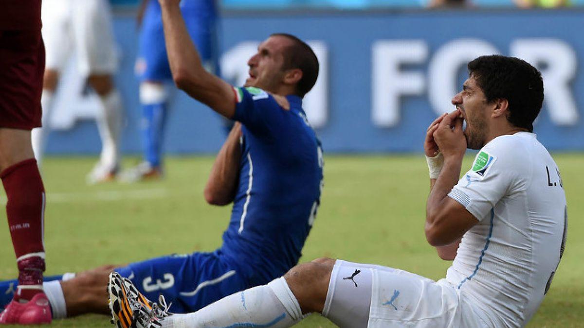 Luis Suárez pidió perdón a Giorgio Chiellini por morderlo