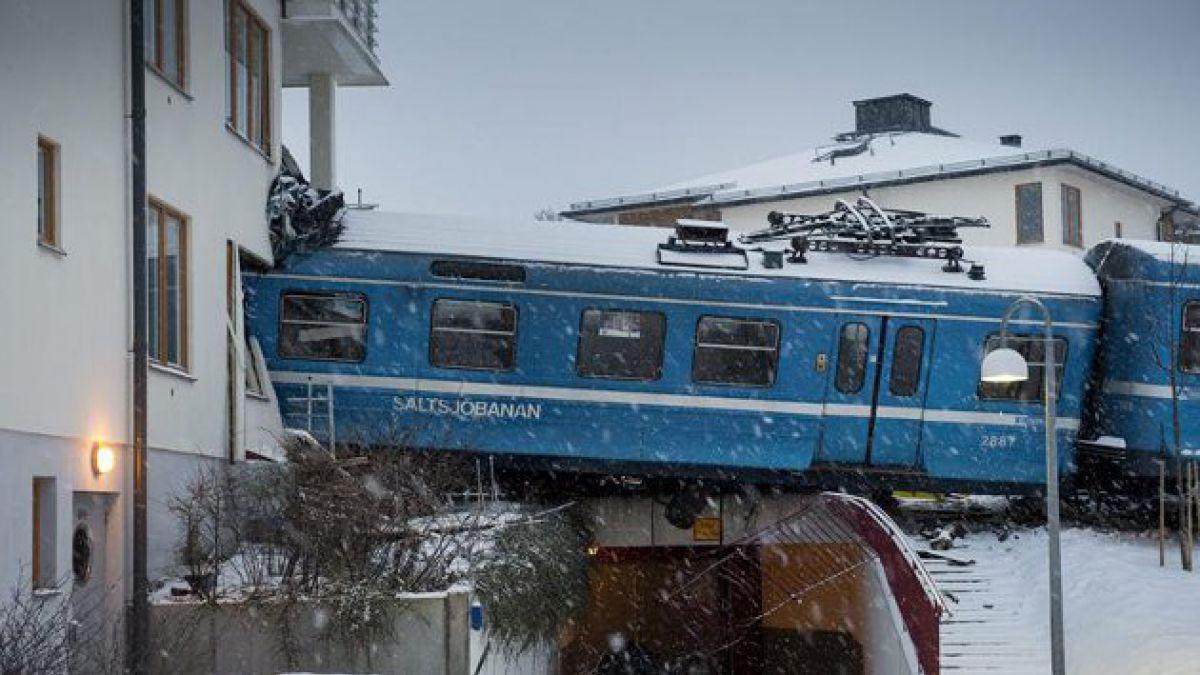 Suecia: Mujer robó un tren y lo chocó