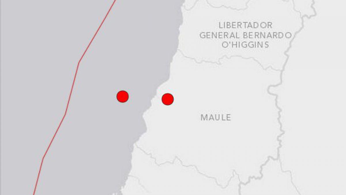 Tres temblores afectaron a la zona central del país