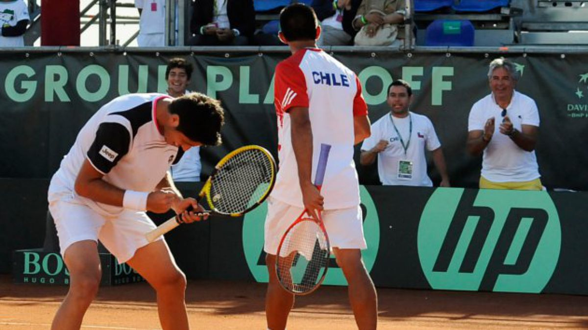 Chile ganó en dobles por repechaje de Copa Davis
