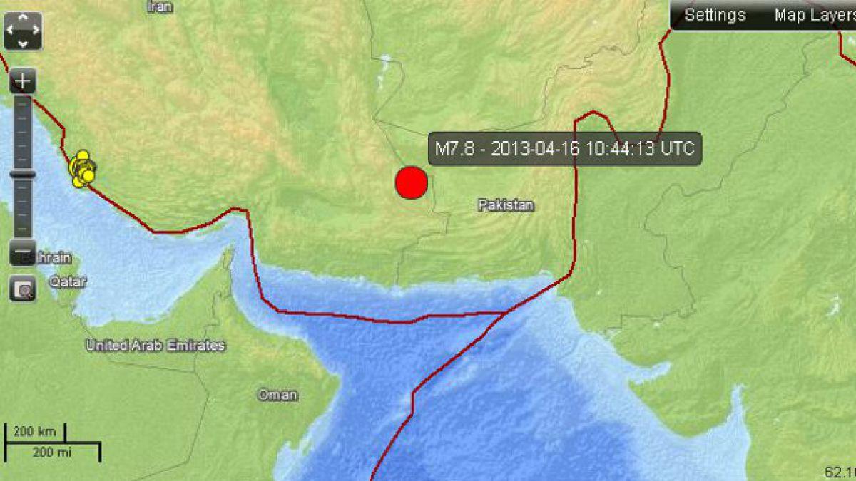 Terremoto de 7,8 grados Richter afectó a Irán