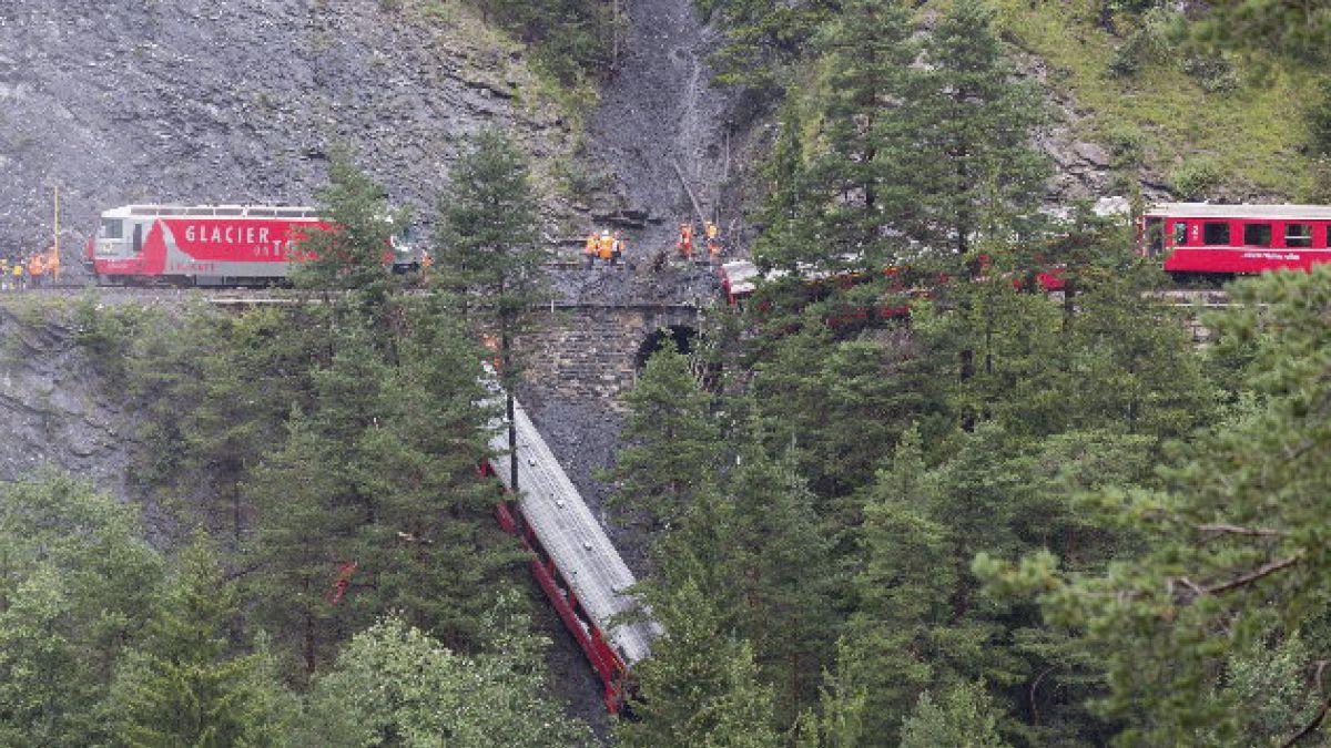 Tren se descarrila en Suiza