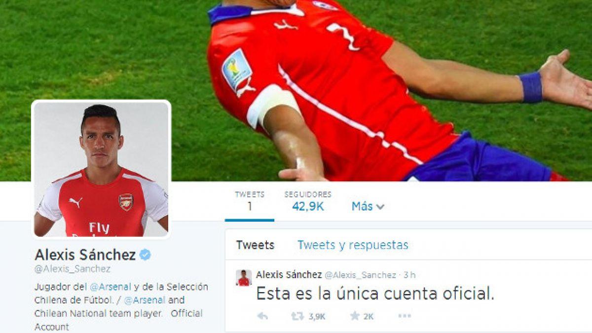 Alexis Sánchez suma miles de seguidores en su primer día en Twitter