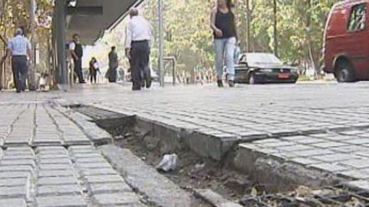 Municipalidad de Santiago comienza reparación de veredas de la Alameda