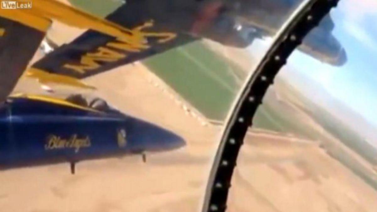 VIDEO: Las maniobras milimétricas de un escuadrón aéreo que impactan en Internet