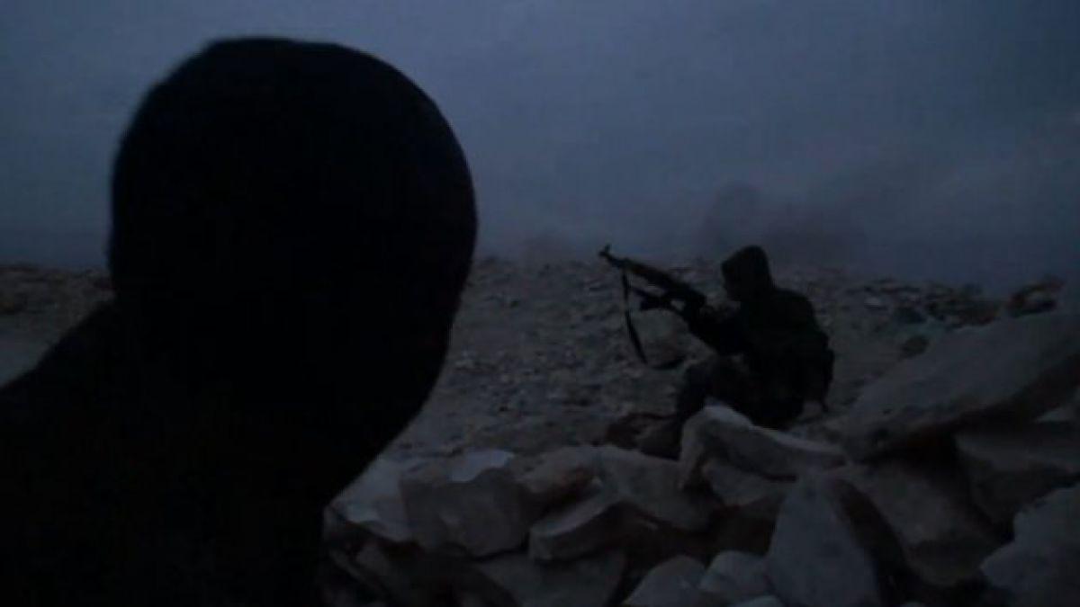 Guerrillero es alcanzado por un explosivo en Siria