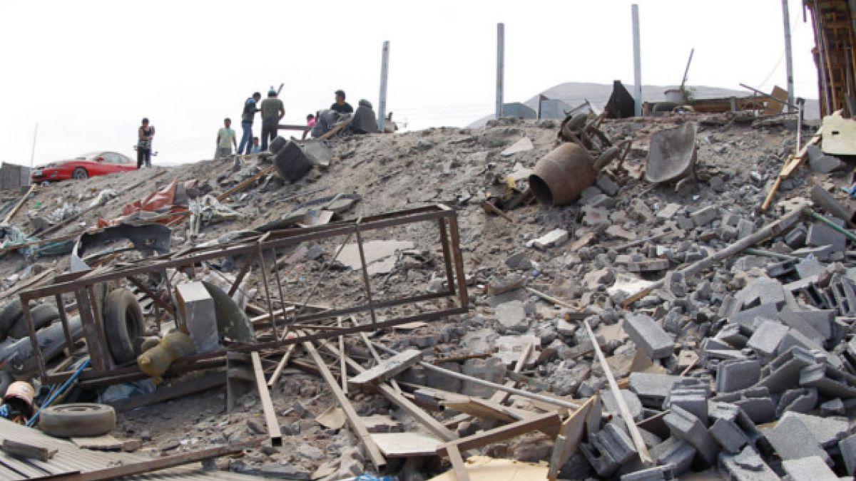 Primer terremoto dejó 122 casas dañadas en Iquique