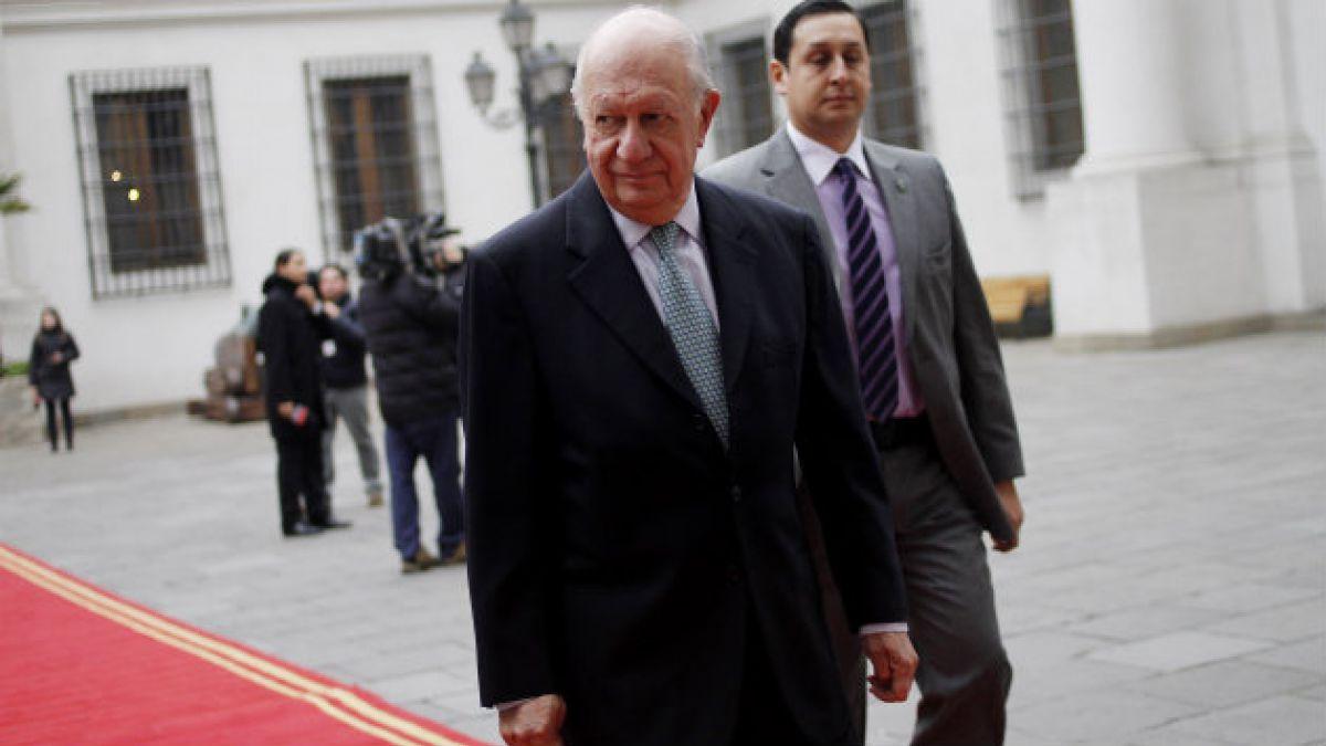 Ex presidente Lagos dice que es necesaria una respuesta fuerte y clara por mapa peruano