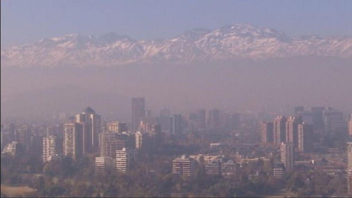 Mantienen alerta ambiental para este miércoles en la Región Metropolitana
