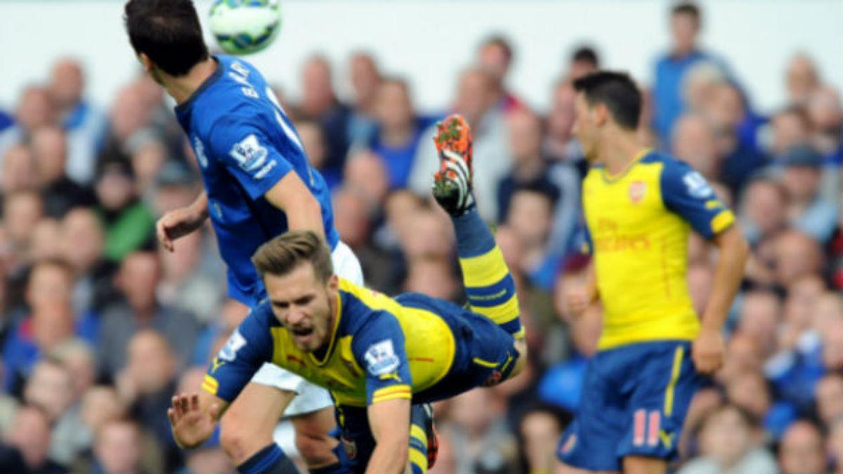 Arsenal rescata un empate ante Everton en un juego en el que Sánchez no logra destacar