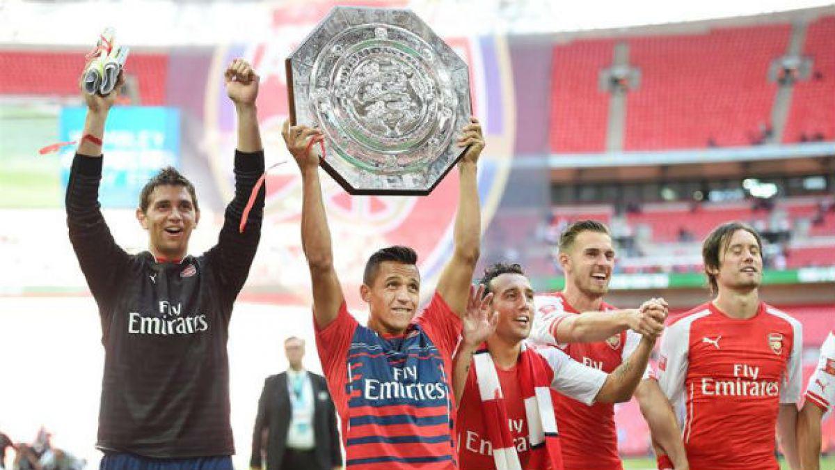 [FOTOS] Alexis Sánchez y su primer título en el Arsenal