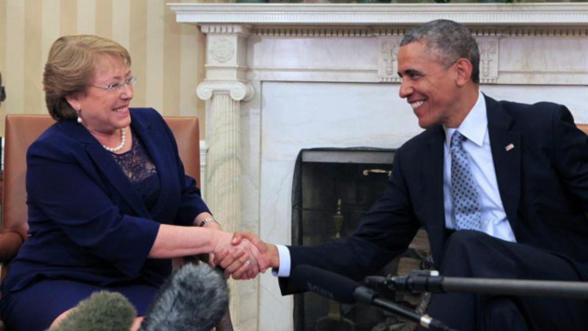 """Michelle Bachelet en Estados Unidos: """"Queremos seguir avanzando en comercio y cooperación en áreas e"""