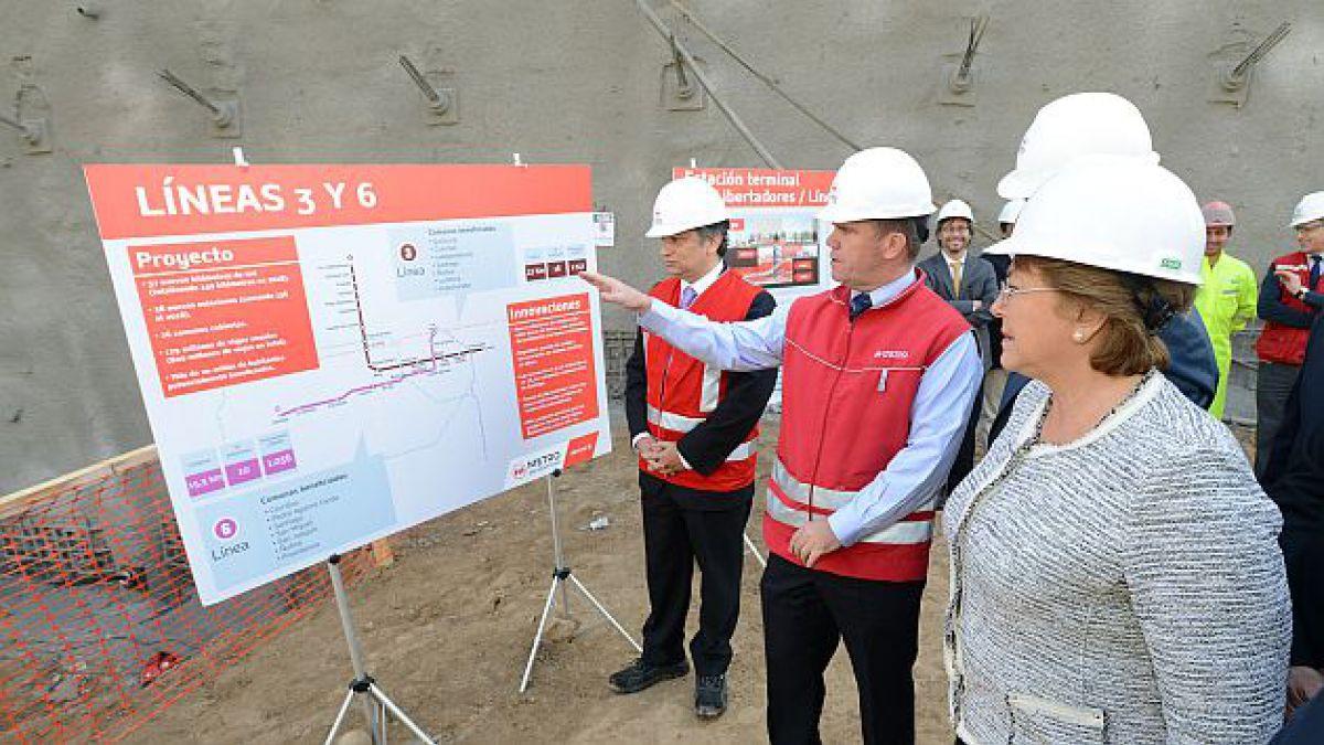 Presidenta Bachelet anuncia estudios de factibilidad de extensión de líneas 2 y 3 del Metro