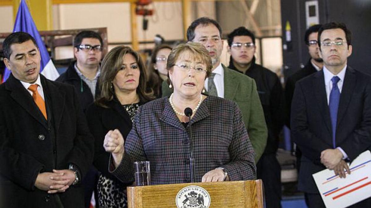 Bachelet: El gobierno y esta presidenta tomarán todas las medidas para proteger el empleo