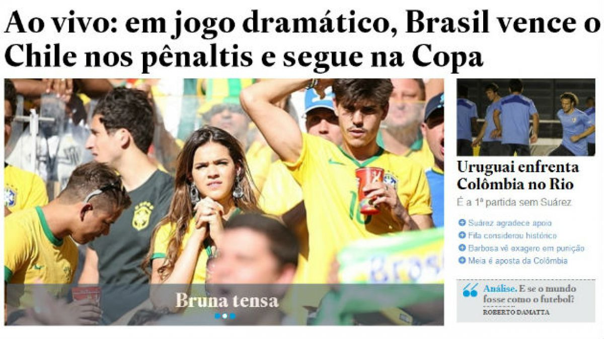 La sufrida clasificación de Brasil registrada en la portada de sus medios