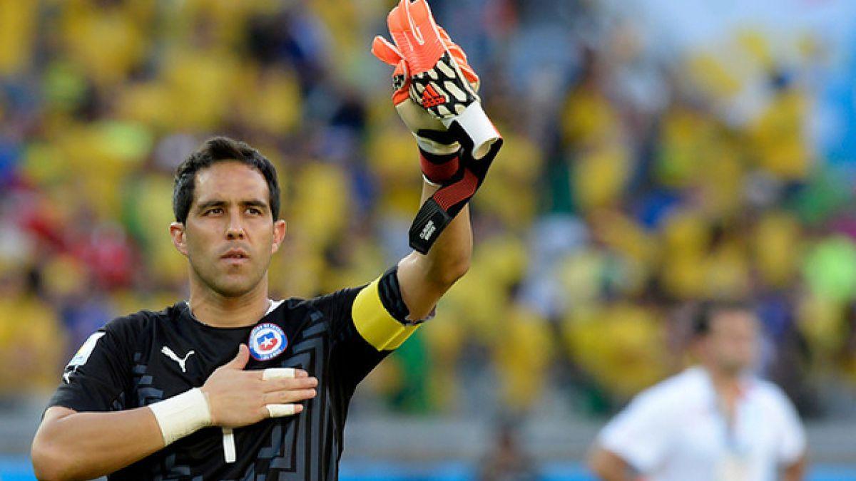 Claudio Bravo logra ser el jugador con más partidos con Chile