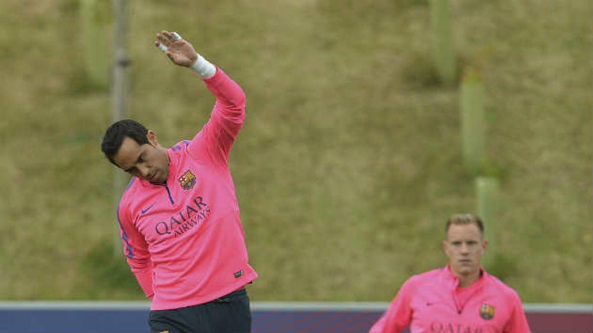 Claudio Bravo a la banca en debut del FC Barcelona en la Champions League
