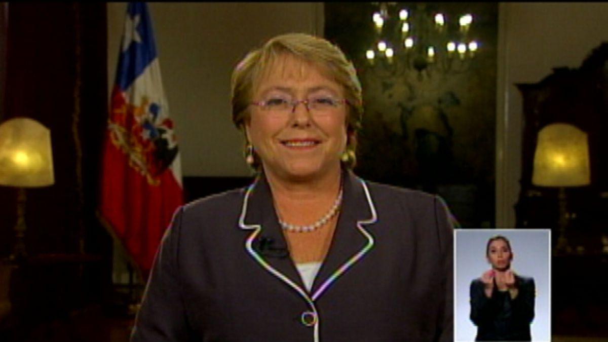 Michelle Bachelet: Reforma tributaria busca generar mayor dinamismo a la economía