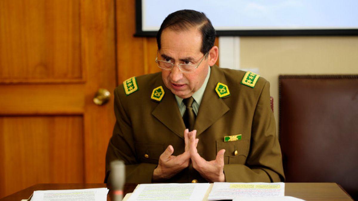"""General director de Carabineros por bombas: """"Es entendible que la población tenga gran temor por lo"""