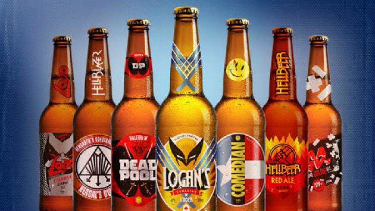 Artista crea cervezas de famosos personajes de cómic