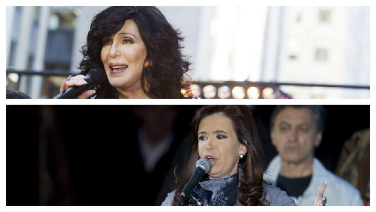 Cher ataca a Cristina Fernández por condiciones de oso polar
