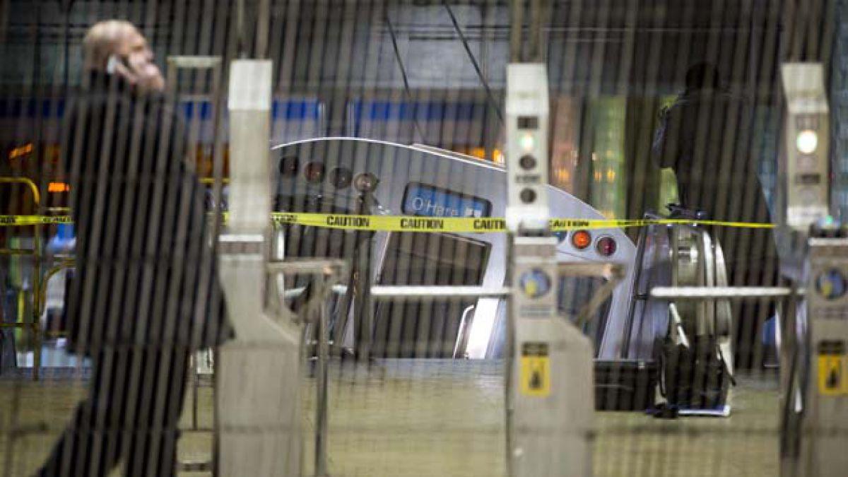 [Video] Así fue el descarrilamiento de tren en el aeropuerto de Chicago