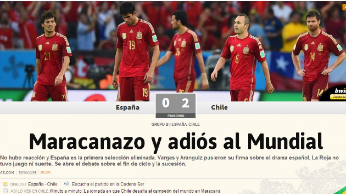 Así vivió la prensa española la derrota frente a Chile