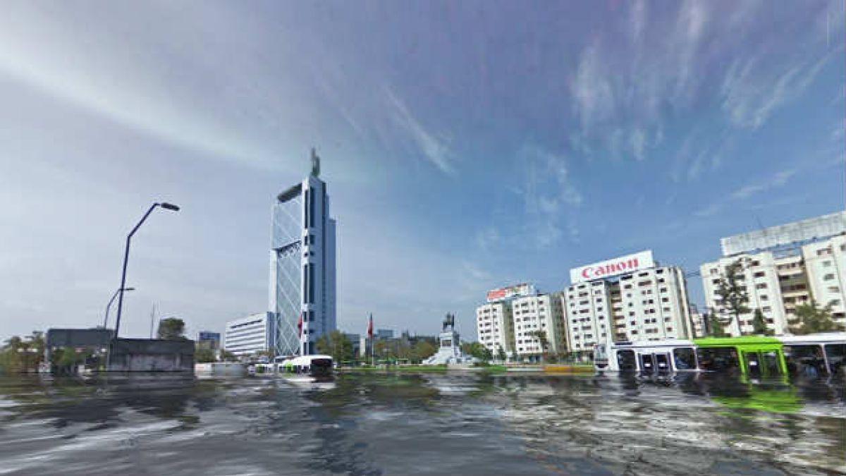 Cómo se verían las principales ciudades de Chile bajo el agua