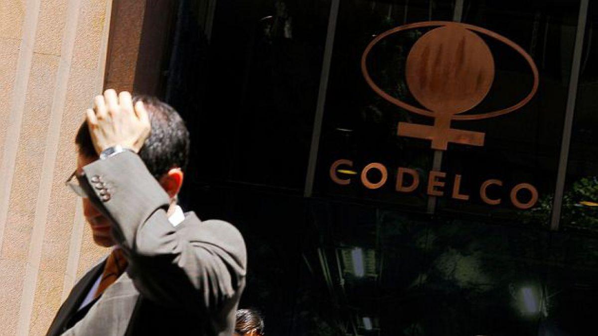 Excedentes de Codelco caen 38% en primer trimestre y alcanzan US$539 millones
