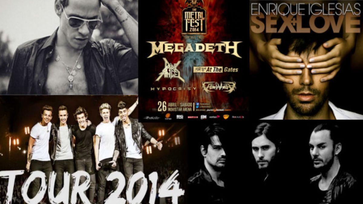 Estos son los próximos conciertos en Chile