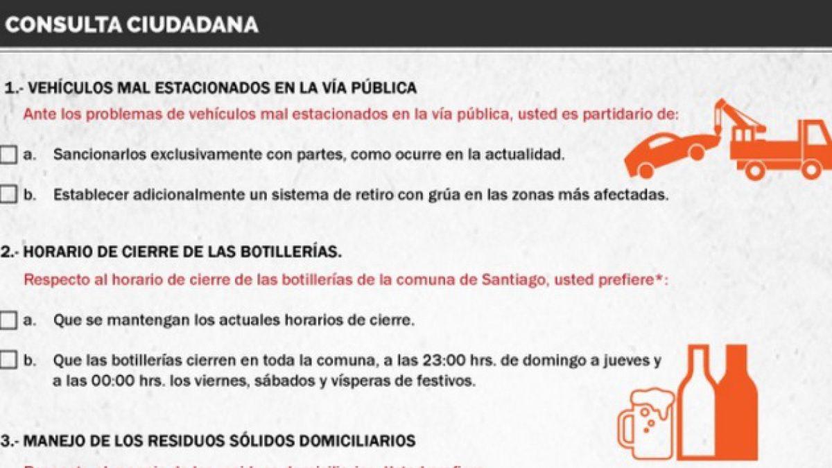 [INFOGRAFÍA] Municipalidad de Santiago alista consulta por horario de botillerías y cambio de nombre