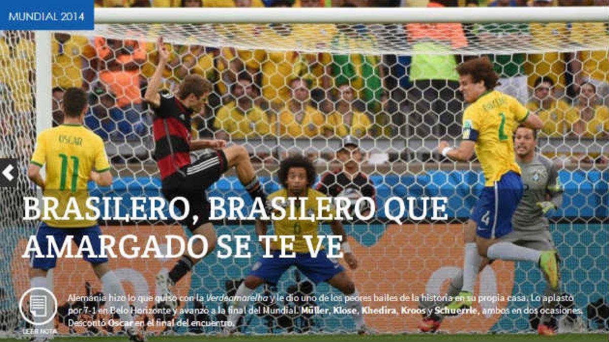 [Fotos] Los medios argentinos se burlaron con el 7-1 de Alemania a Brasil