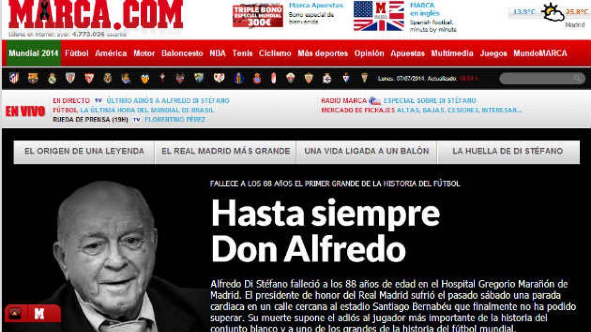 [Fotos] Así reaccionó la prensa española y argentina por la muerte de Di Stéfano