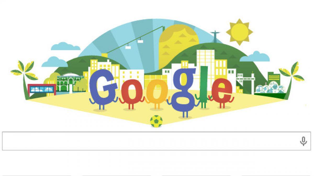 Doodle de Google celebra la inauguración del Mundial de Brasil