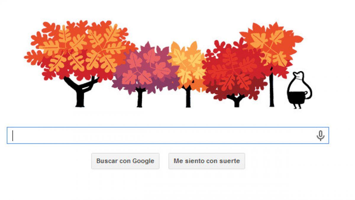 Doodle de Google da la bienvenida al otoño