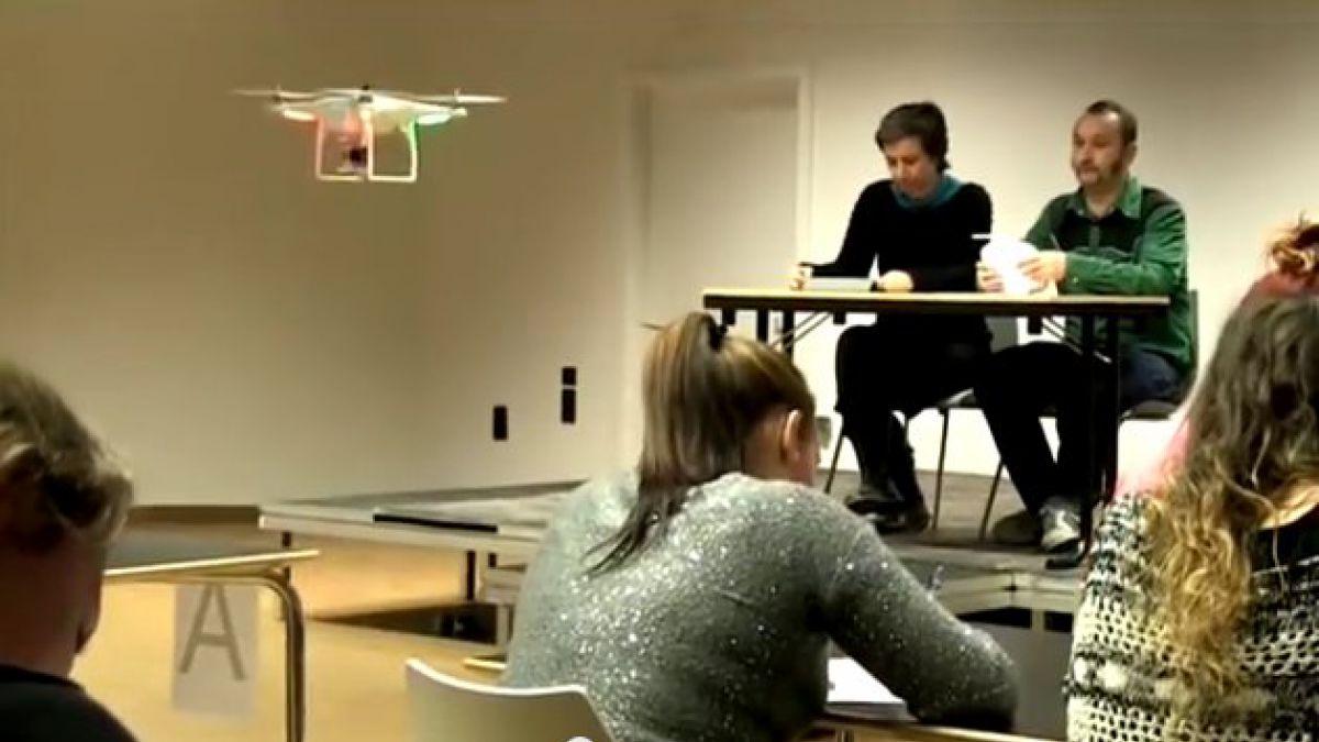 Crean drone para vigilar a los copiones del curso