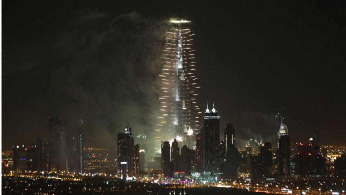 ¡Así se celebró el Año Nuevo en Dubai!