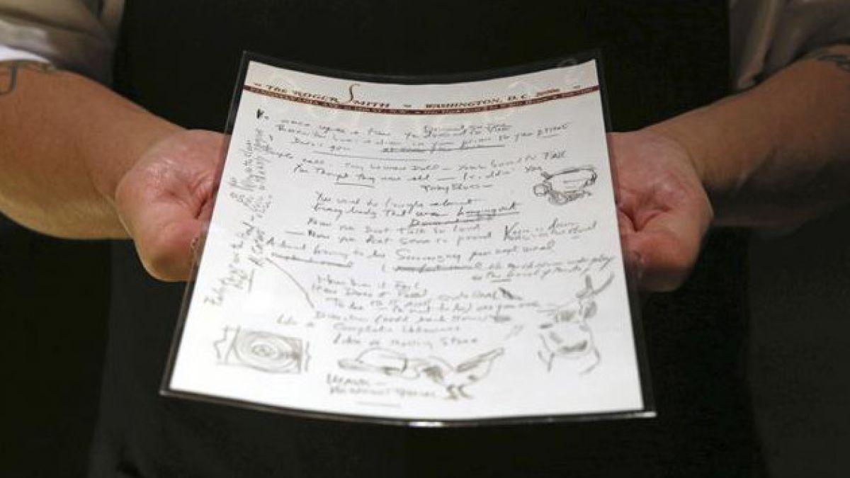 Subastan manuscrito de Like a Rolling Stone de Bob Dylan