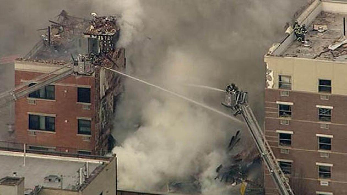 Explosión y derrumbe de edificio en Nueva York