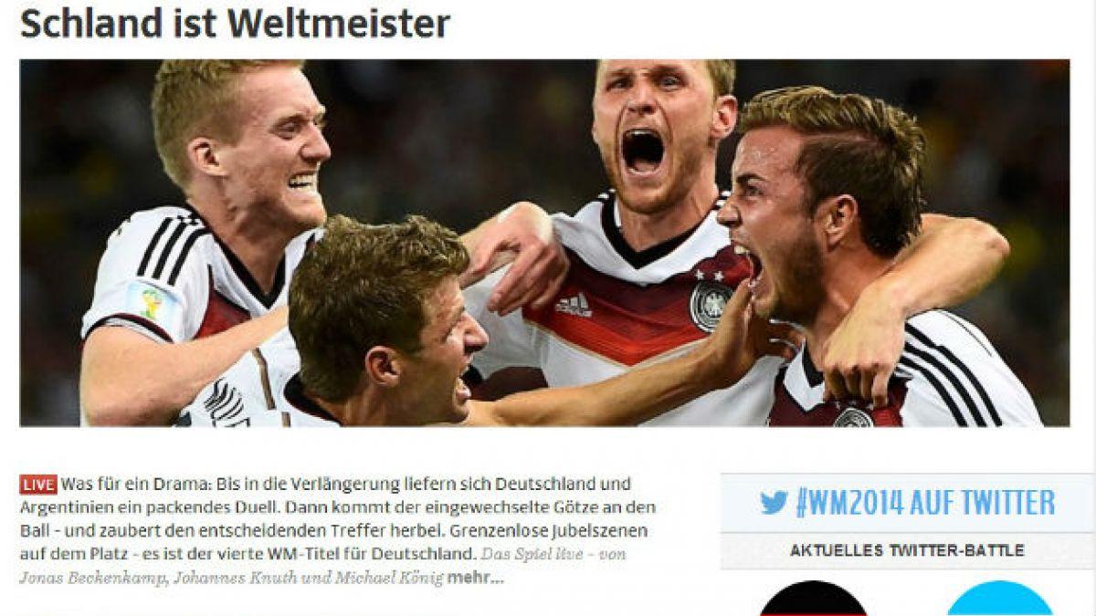Las portadas alegres de los medios alemanes y la tristeza de los argentinos