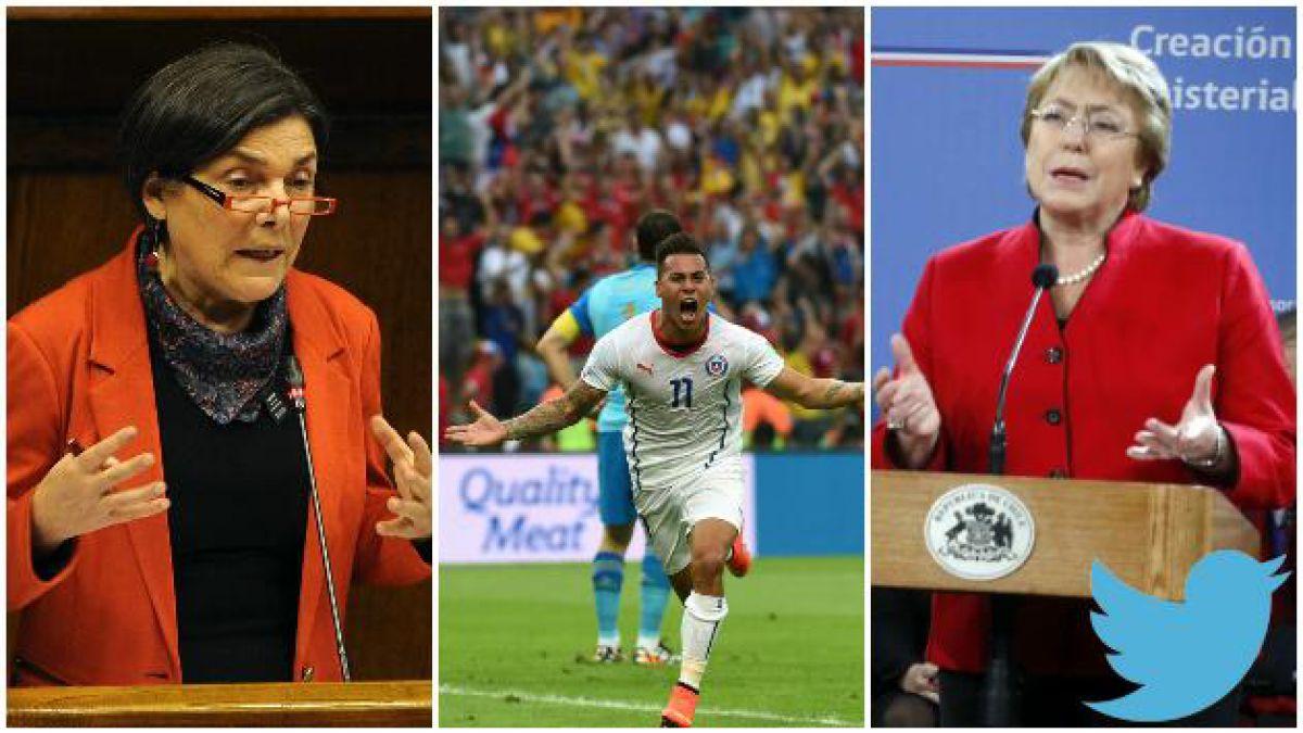 Chile en el Mundial y los 100 días de Bachelet: La semana en tuits