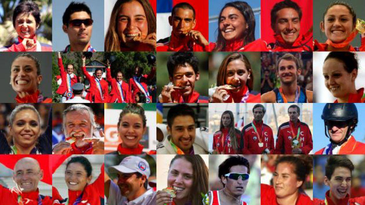 Odesur: los chilenos que ganaron oro en una sola foto