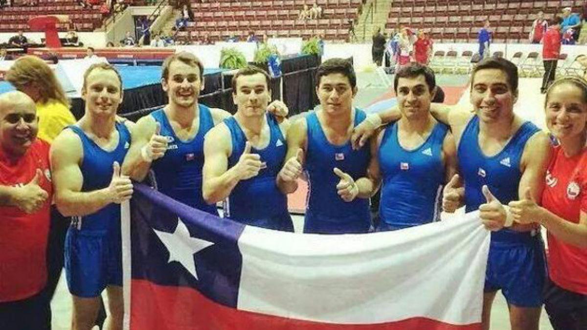 Equipo chileno de gimnasia masculina clasifica a Juegos Panamericanos de Toronto 2015