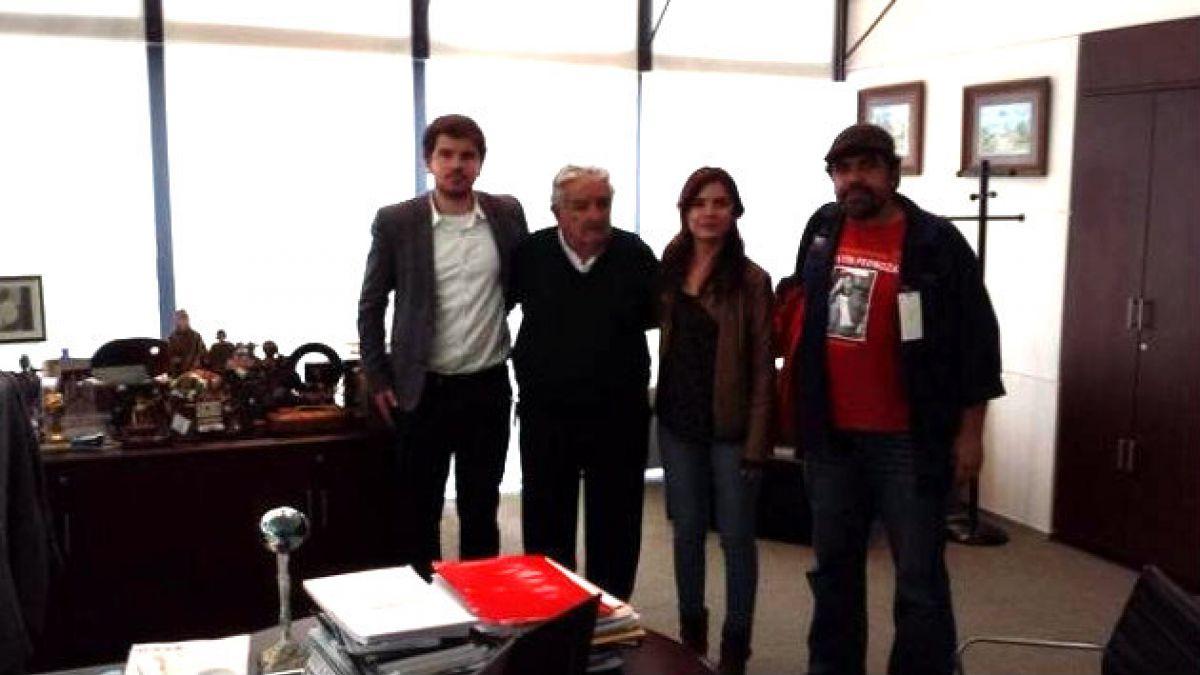 Diputados Vallejo y Jackson se reúnen con Presidente José Mujica en visita a Uruguay