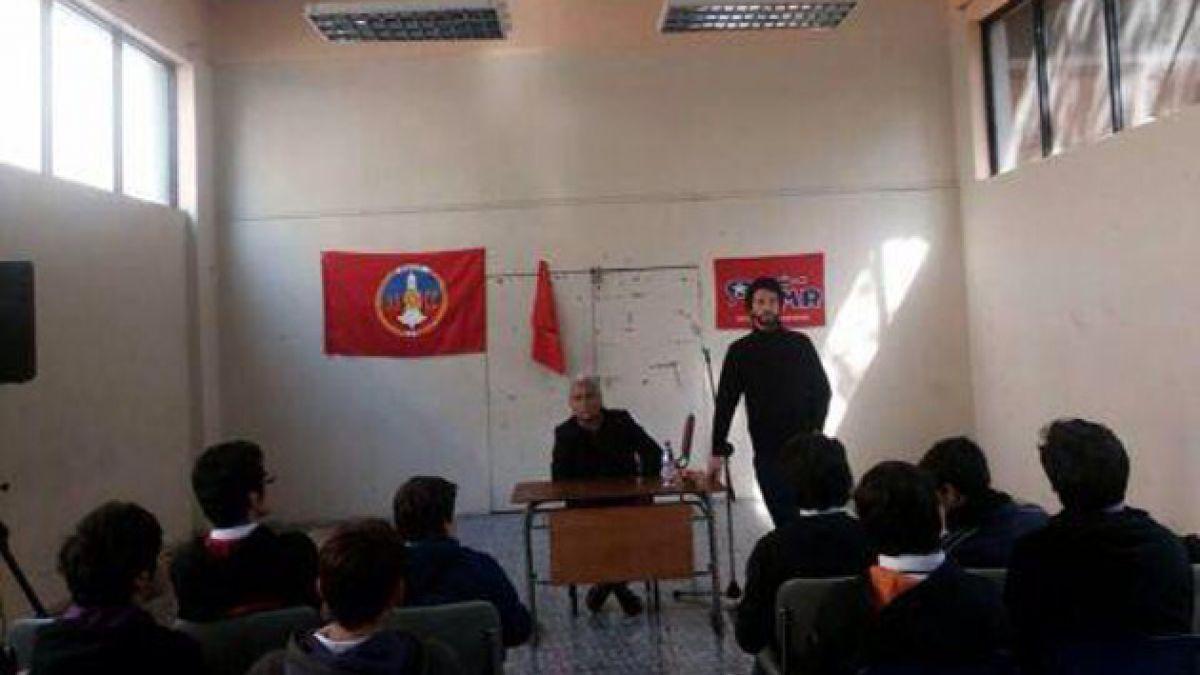 """La polémica que desató un foro de """"rebelión popular de masas"""" en el Instituto Nacional"""